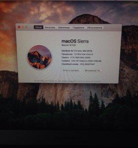 Apple MacBook Air 11 Mid 2013 ssd 128 gb