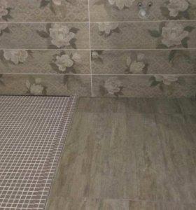 Ремонт ванных,санузлов,душевых под ключ. Плиточник