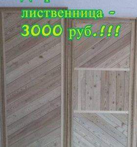 Дверь банная из лиственницы