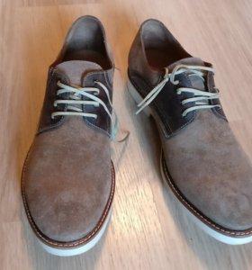 Ботинки новые Hudson, замша+кожа