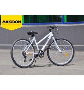 Велосипед Kemmel белый гибридный