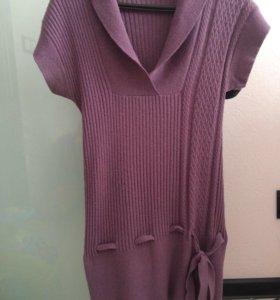 Платье-туника тёплое с ангоркой