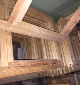 Рамы оконные деревянные новые