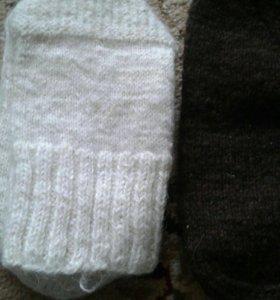 Носки шерстяные ручная вязка