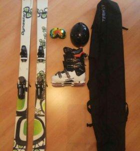 Лыжи горные+ботинки