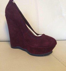 Новые туфли, замша