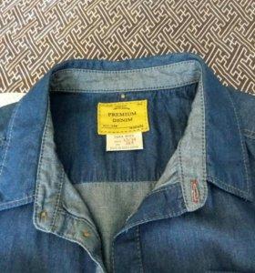 Рубашка джинсовая на подростка