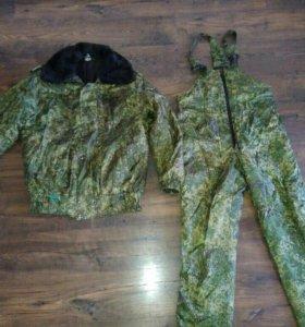 Куртка и штаны зимние камуфлированные