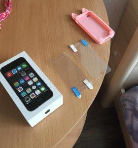 Коробка от IPhone 5s,пленка на 5s,чехол на 4s