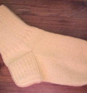 Шерстяные носки 36, ручная вязка.