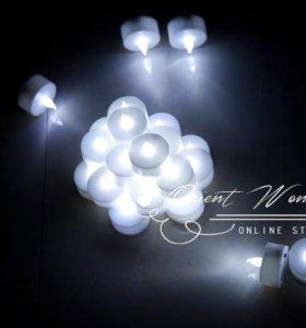 Светодиодные свечи белые электронные беспламенные