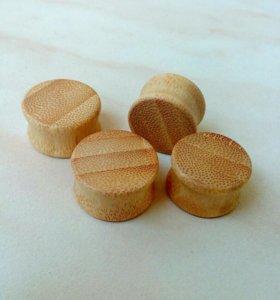 Плаги бамбук (18, 20 мм)
