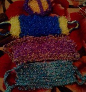 Мочалки вязанные