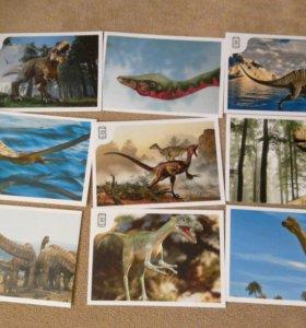 Наклейки, динозавры,дикси.