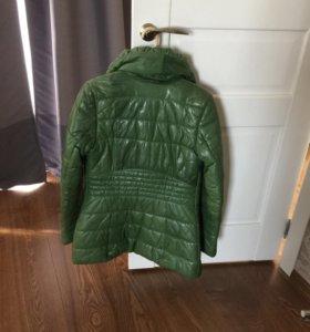 Куртка кожаная ! С утеплителем из верблюжей шерсти