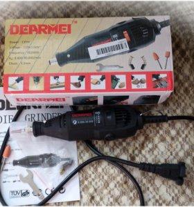 Мощный дремель-гравер Dearmei 130Вт, новый