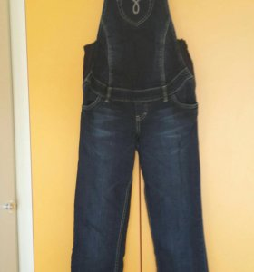 Комбинезон для беременных 48 джинсовый