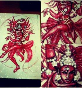Рисунок,Танцующий Шива