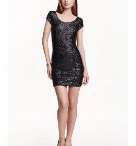 Платье с пайетками H&M, новое