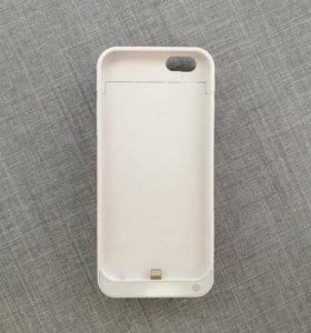 Чехол-аккумулятор для iPhone 6 5800 mAh.. Белый
