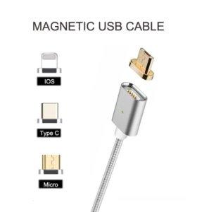Магнитный кабель USB для micro, iPhone или Type-C