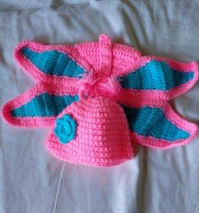 Костюм бабочки для фотосессии новорожденной
