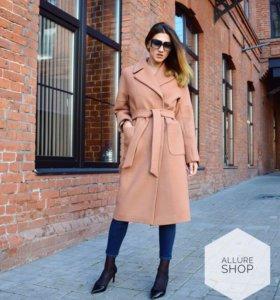 Шерстяное пальто кэмел