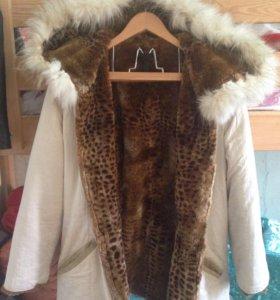 Куртка зимняя 2-х сторонняя б/у