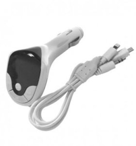 MP3 FM Modulator 10 в1 белый