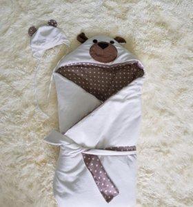"""Одеяло на выписку """"Мишка"""""""