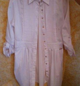 Блузка удлинённая