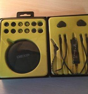 Наушники dexp s390 черные, беспроводные.