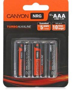 батарейки AAA (LR3) 010шт. Canyon щелочные