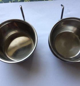 Мисочки на крючках для птиц и грызунов 0,15 л