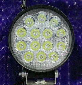 LED фары 48 Вт, светодиодные. Круглая.