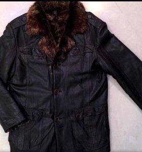 Мужская зимняя куртка из натуральной кожи б/у