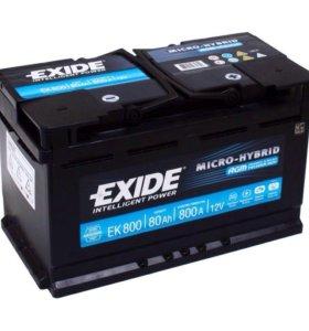 AGM Автомобильный аккумулятор EXIDE EK800