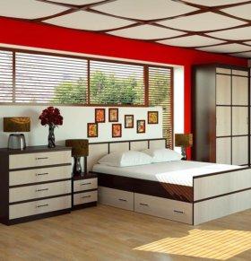 Спальня Сакура 1+матрас