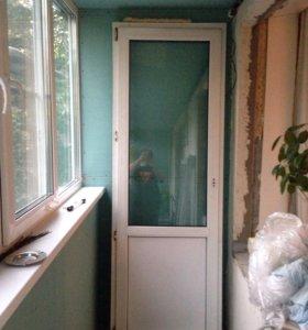 Стеклопакет балконный блок Б.У.+оконный блок кухня