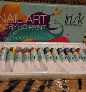 Акриловые краски для дизайна и росписи ногтей