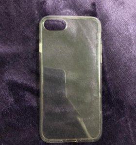 Прозрачный чехол на айфон 7