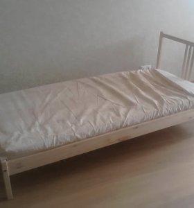 Кровать IKEA 90ммх200мм