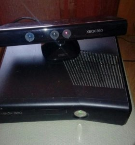 Xbox 360 slim+kinect+2 игры