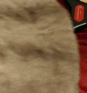 Норковое пальто с воротником из рыси,фасон кимоно.