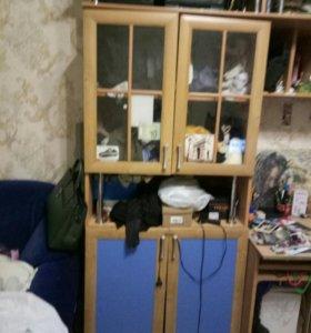 Шкаф книжный +стол письменный