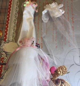 Свадебная одежда для худеньких кукол.