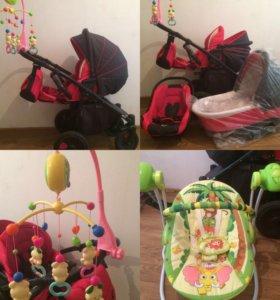 Коляска 3 в 1 + подарок  для младенца до 9 месяца
