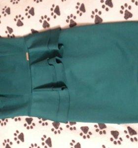 Платье зеленое бирюзовое