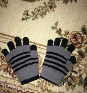 Новые перчатки 6-8 лет
