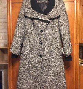 Пальто зимнее шерстяное